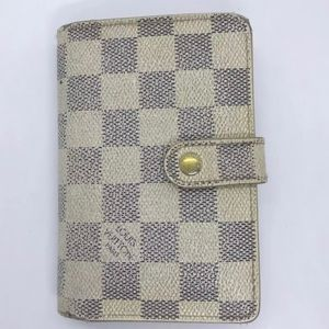 LOUIS VUITTON Damier Azur French Purse Wallet